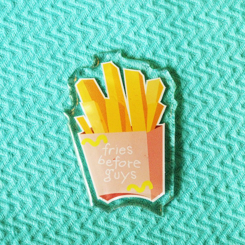 "Keychain & Brooch ""Fries"""