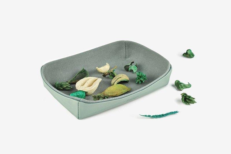 托盤 雜物盤 桌面收納 綠色