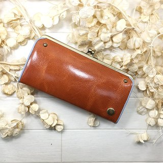 CU087CA leather purse Gamaguchi gloss goat leather wallet Leather wallet / spicy / gloss / goat leather / long wallet / dermo packing / packing / Mitsuzawa / goat leather /