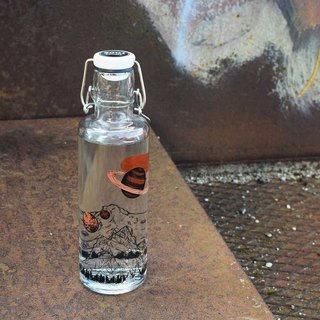 Soul glass water bottle 600ml / tomorrow world