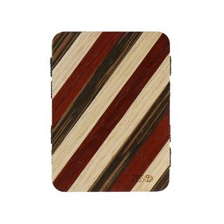 Resso European handmade wooden business card holder wood series - red striped models