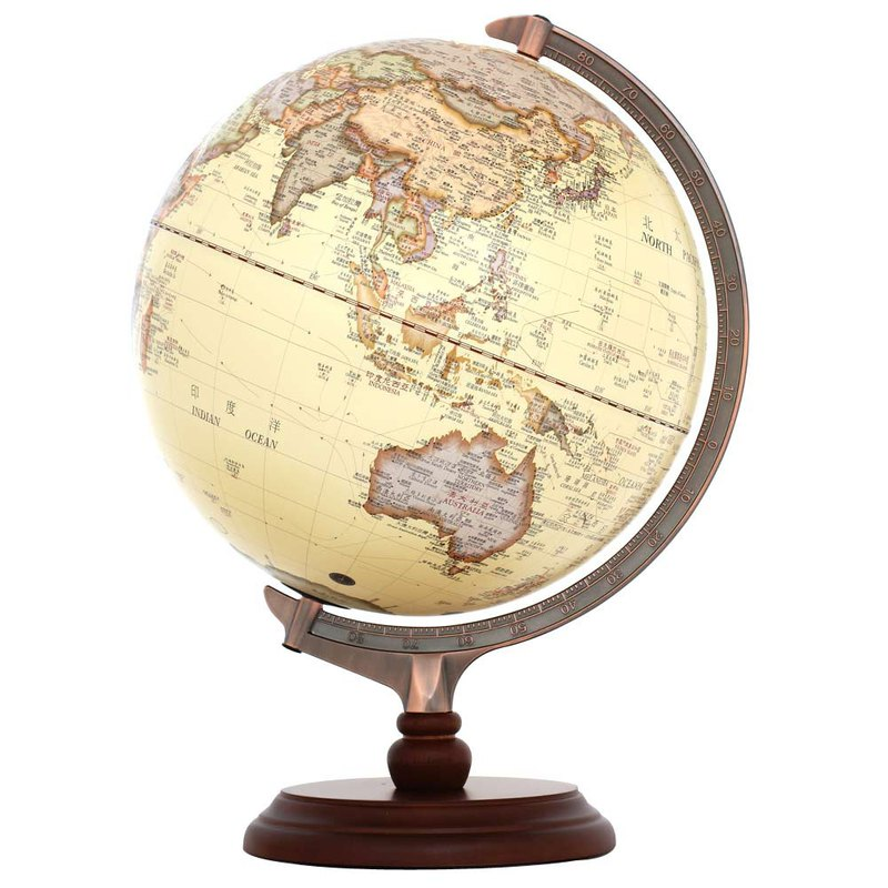 Skyglobe 12吋 Classical Antique Wooden Globe (Chinese and English) (with lights)