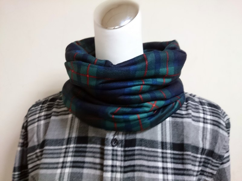 Warm collar neck double-sided short color scarf men and women are applicable*SK*