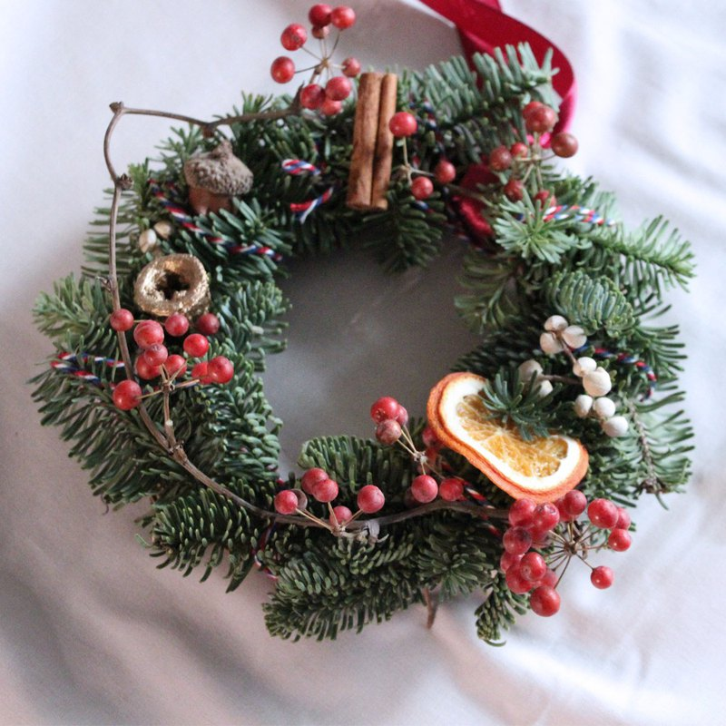 Nobelson Christmas Wreath - Rope Wreath (20m) / Christmas Gift / Season Limited / Christmas Candlestick Wreath
