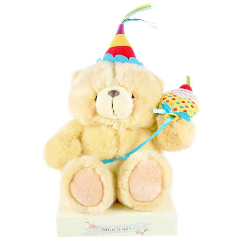 "8 ""/ Celebrate Hairy Bears 【Hallmark-ForeverFriends Fluffy - Birthday Series】"