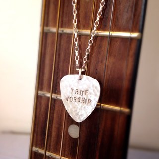 MIH Metalwork Jewelery | guitar pick sterling silver necklace guitar pick sterling silver necklace