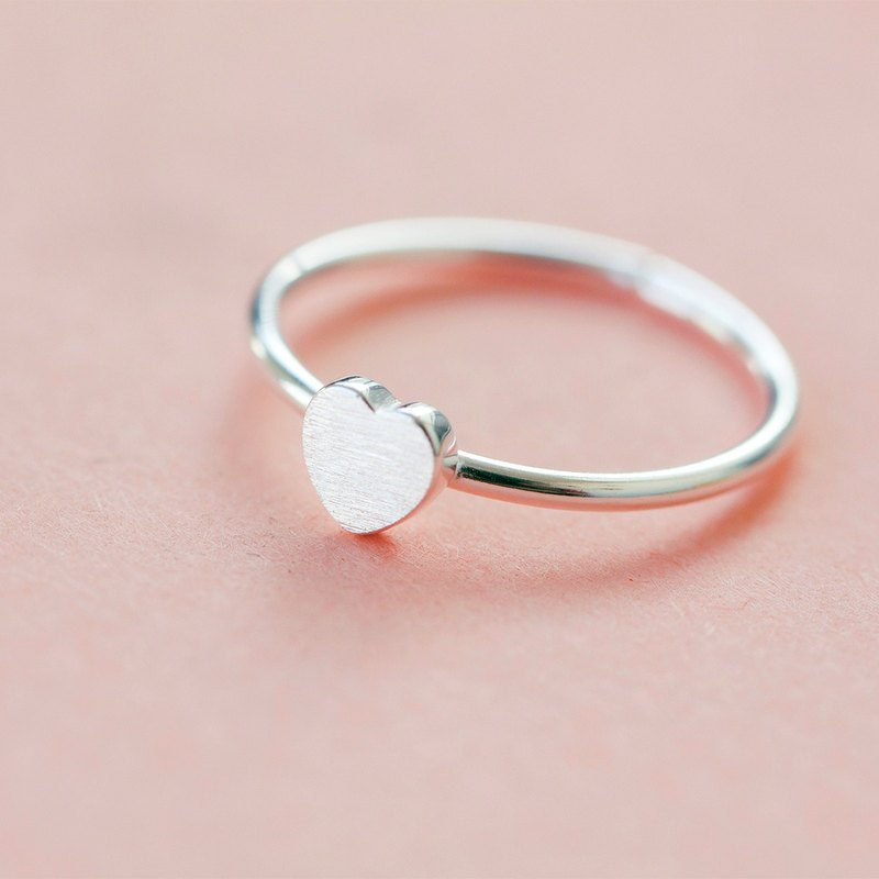 Heart Ring in 925 Sterling Silver - Free Size