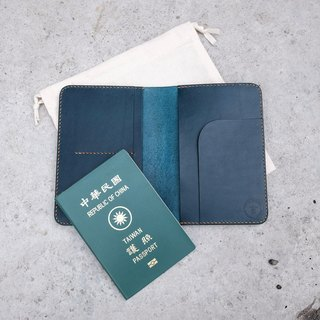 European leather dark blue BUTTERO passport holder passport sets can be printed in English names and numbers / Kyrgyz