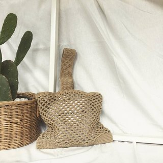 Coffee brown Japia crochet bag