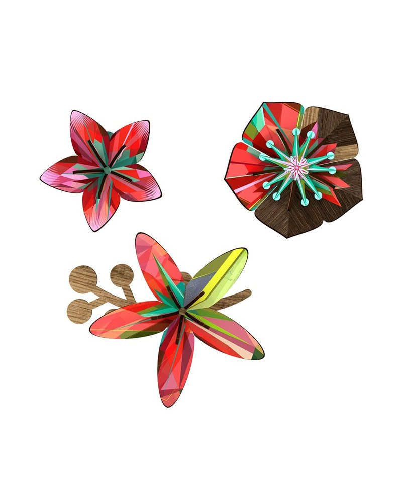 Italy MIHO gorgeous wooden design flower wall decoration (Flower-Tropical Breeze)