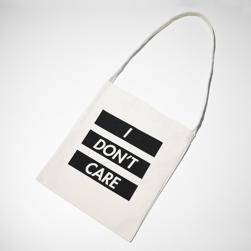 MCVING #ANNOYING Limited Edition I DON'T CARE Shoulder / Crossbody Canvas Bag
