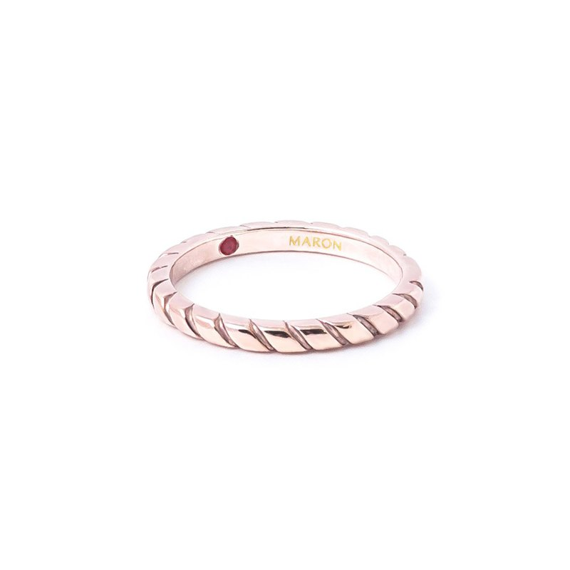 Twist Band Ring (Rose gold)
