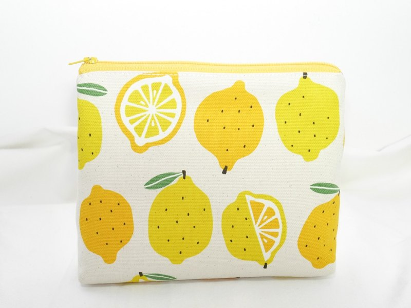 Lemon zipper storage bag