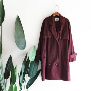 Kagoshima Coffee Red Weekend Party Antique Thin Windbreaker Jacket trenchcoat dustcoat