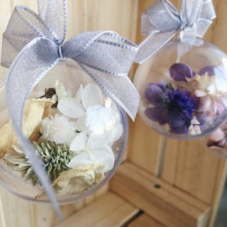 [Good] Flower dried flower transparent ball Preserved Hydrangea valentines home decoration white, pink, purple tri-color (S)