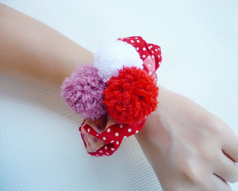 Red Hairball Super-Stretch - Hair Long Special Depth Hair Ring Hair Hair Accessories