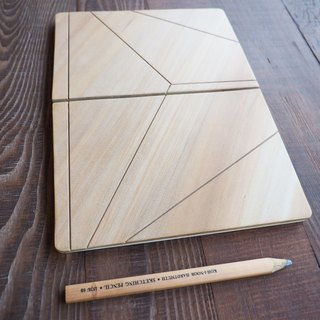 Notebook / wood book clothing