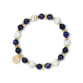 String series brass soda stone white stone bracelet natural ore