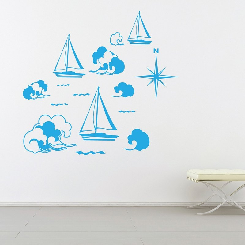 """Smart Design"" Creative ◆ Seamless wall stickers to sail 8 color options"