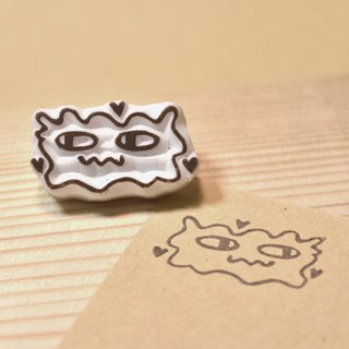 Bacterial handmade rubber stamp for toilet