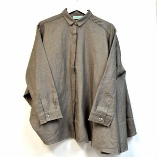Cloak shirt coat cotton green jacquard lattice fabric