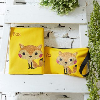 Adorkable series fabric book cover&makeup bag-Fox
