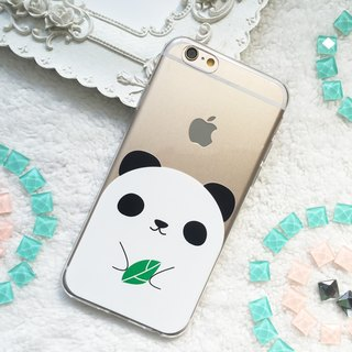 可愛 熊貓 貓熊 透明 手機殼 軟殼 iphone X 8 8+ 7 7+ Plus Samsung Huawei Oppo A77 A57phone case