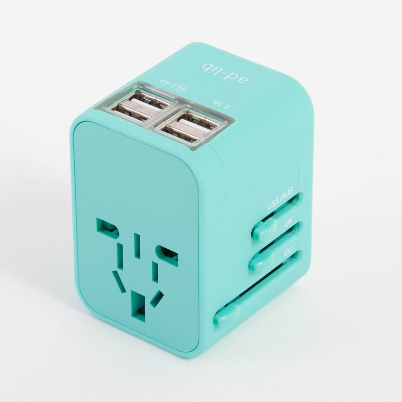 【ad-lib】USB Travel Adaptor - Turquoise (SO034)