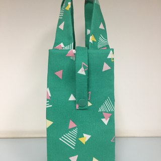 Eco-friendly beverage bag accompanying cup bag breakfast bag grass green triangle