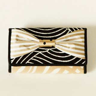 key holder wallet beige gold ribbon Assistant Director dots borders stripes