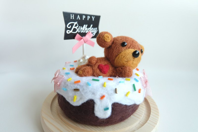 Sleeping original handmade sleeping cake [raccoon chocolate cream cake]