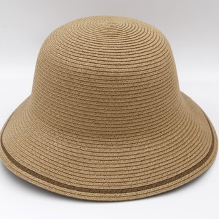 [Paper cloth home] two-color fisherman hat (coffee) paper line weaving