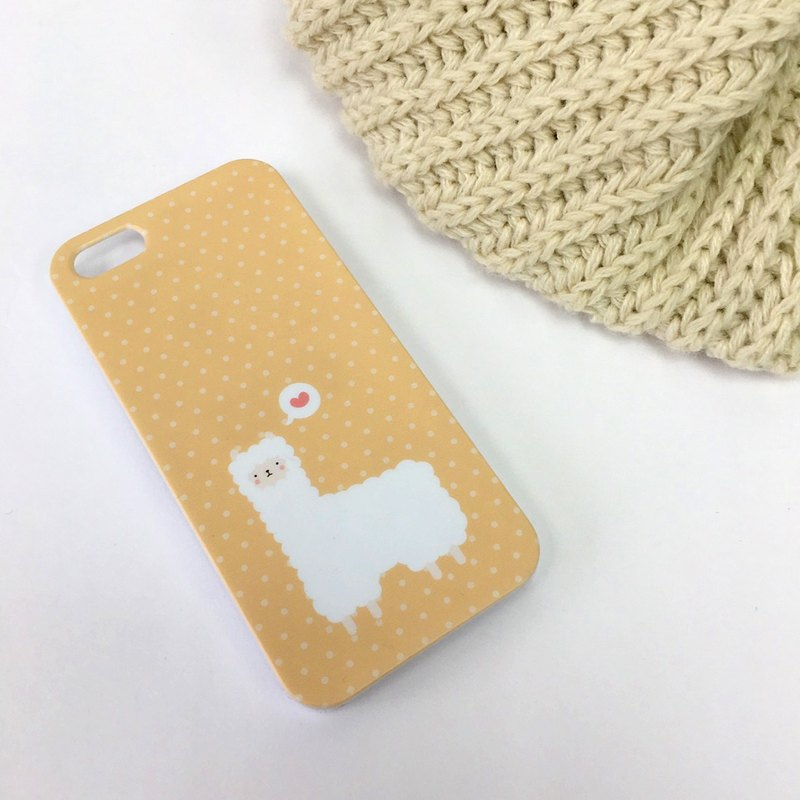 Alpaca Orange Print Soft / Hard Case for iPhone X,  iPhone 8,  iPhone 8 Plus, iPhone 7 case, iPhone 7 Plus case, iPhone 6/6S, iPhone 6/6S Plus, Samsung Galaxy Note 7 case, Note 5 case, S7 Edge case, S7 case