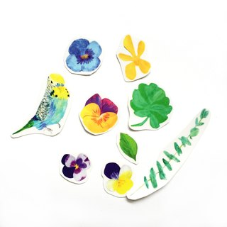 Budgie Bird Stickers,Tropical Floral Sticker Pack, 9 Watercolor  Parakeet Cute Sticker Bundle| Parrot Hand drawn Clear Cute Stickers Budgie Bird Stickers,Tropical Floral Sticker Pack, 9 Watercolor  Parakeet Cute Sticker Bundle| Parrot Hand drawn Clear Cute