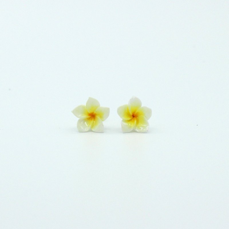 Pamycarie Twig Clay Plumeria Earrings