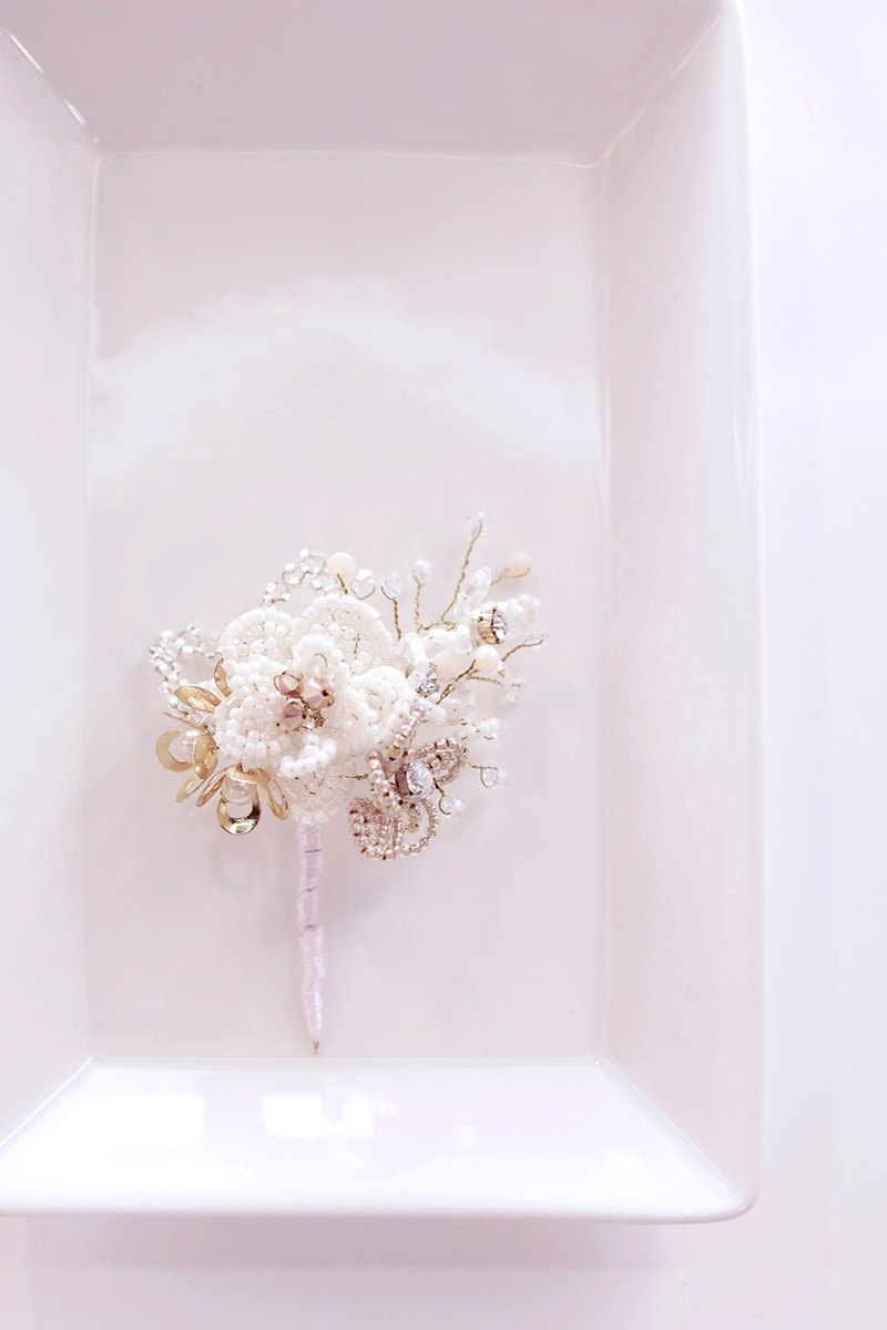 Beads Flower Corsage Gorgeous beaded groom, wedding corsage