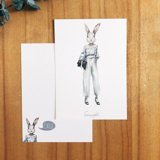Rabbit Post Card