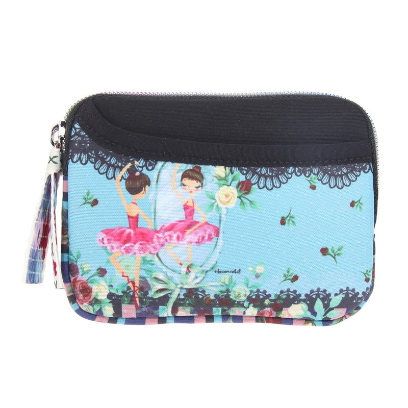 I Love Ballet - Front Bag Pouch Coin Key Bag