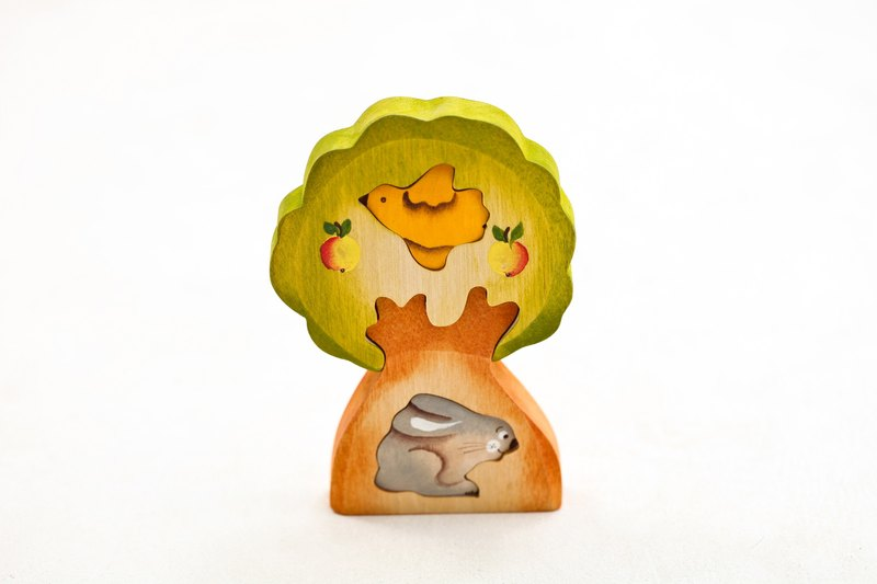 Russian Building Blocks - Beech Fairy - 3D Puzzle Series: Rabbit in the Tree - Healing Gifts