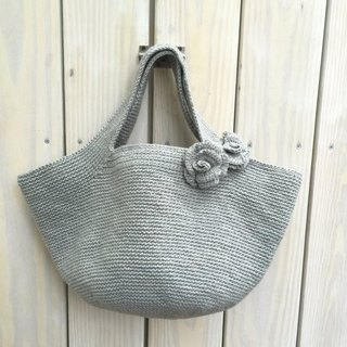 Today, tomorrow, away linen tote bag / shoulder bag / handbag / shoulder bag / woven bag / woven twine for hand〗 〖crazy hopscotch