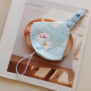 Polar bear fishing two in one pacifier clip pacifier dust bag + pacifier clip dual function 1 into