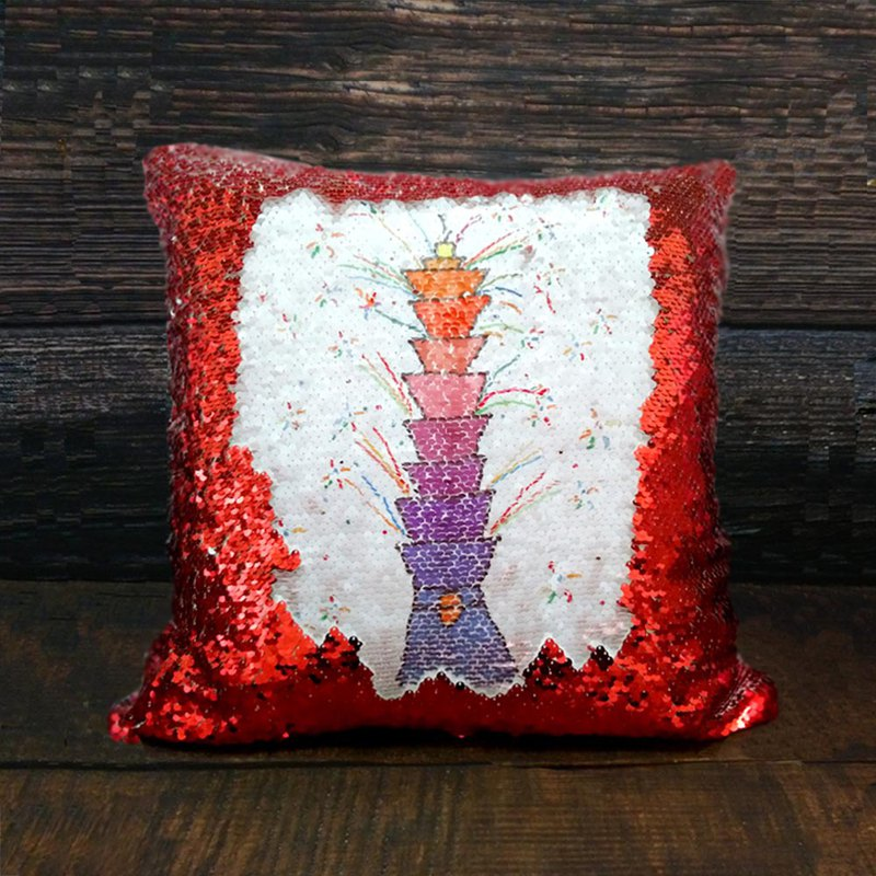 (Custom Products) Graffiti Magic Sequins / Auspicious Red / Heart Gold / Temperament Silver / Cushion Cover (New Year Limited)