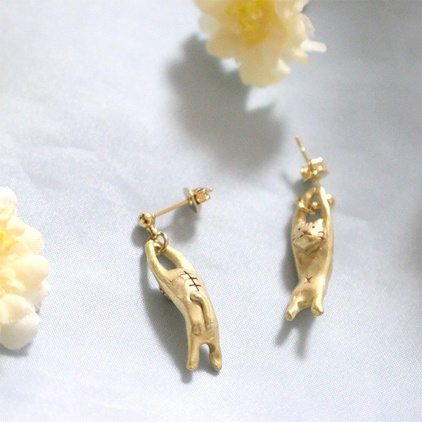 Cat Choreographer Choreographed cat earrings / earrings PA327