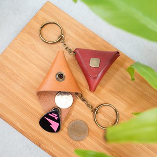 Shekinah Handmade Leather - Mini Triangle Pick Set, Alternate Gold Pouch