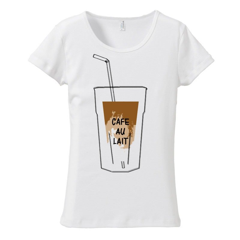 [Women's T-shirt] Cafe au lait