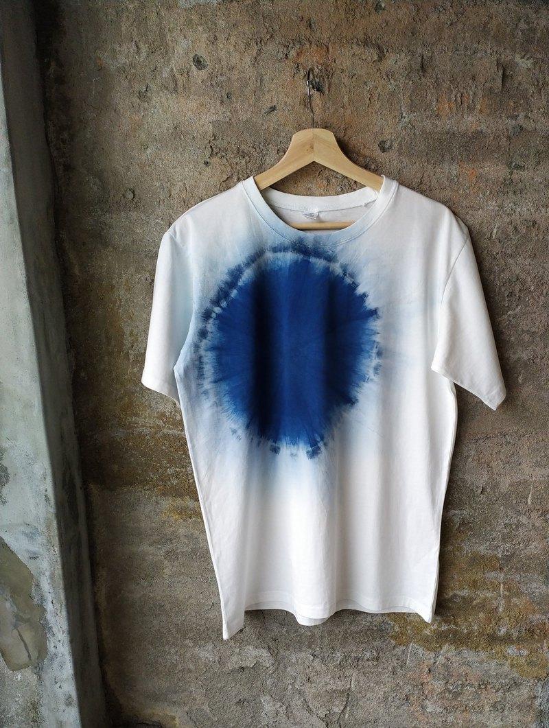 自在染isvara 手工藍染純棉T-sthir 簡單系列