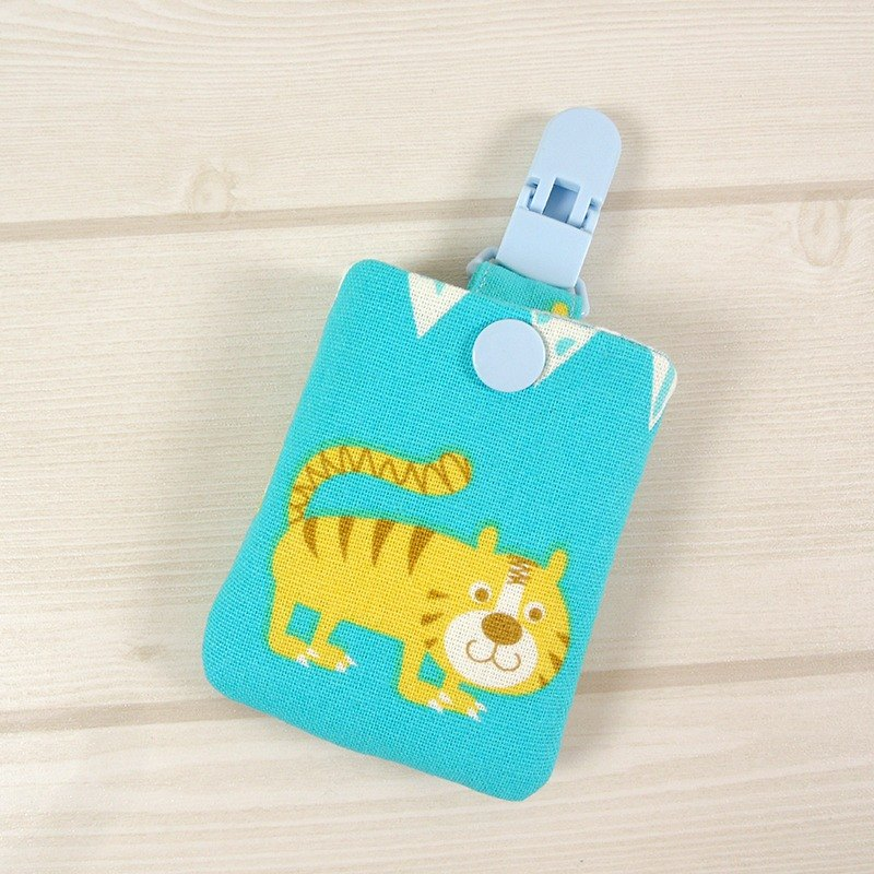 Each child births ceremony Ping Ping pocket - smiled Tiger (blue)