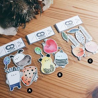 [Opacity / matte stickers] strange watercolor creatures