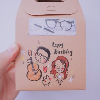 [Add purchase service] box can be hand-painted custom situation portrait portrait Q version up to 2 people