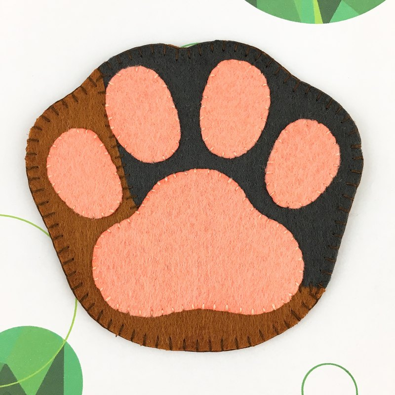 Two-tone cat palm shape coaster